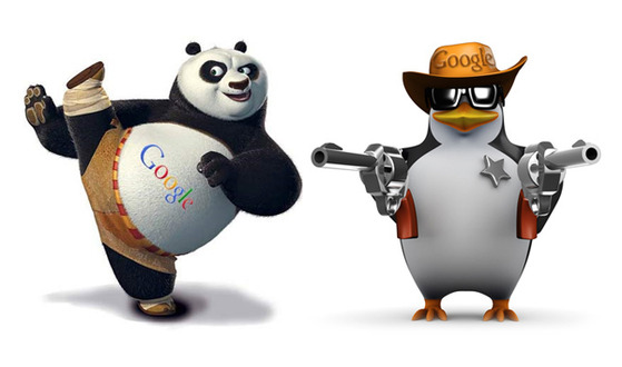 seo strategies in 2014 - effects of google panda and google penguin on websites