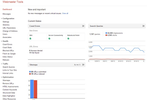 seo tools by google in 2014 - the google webmaster tools