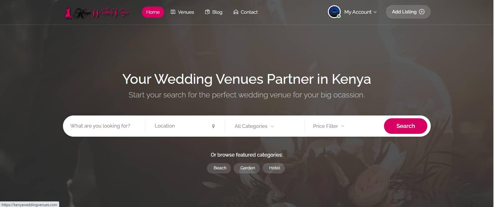 Digital Marketing Project - Kenya Wedding Venues