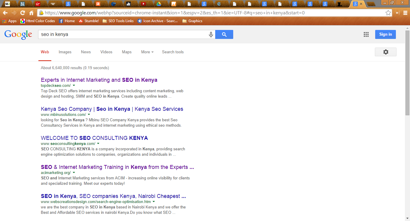 seo in kenya - search engine optimization services