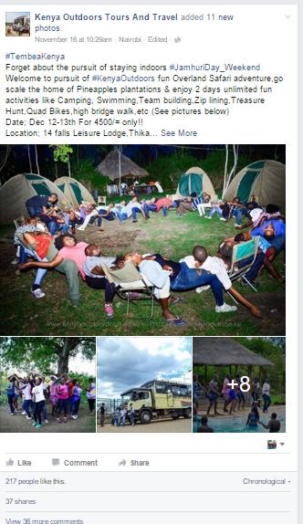Kenya Outdoors Tours Travel