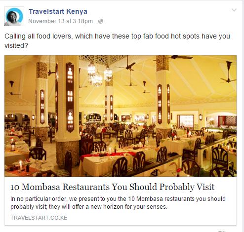 Travelstart content marketing