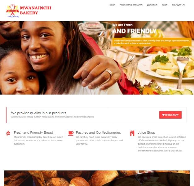 Web Design Project - Mwanainchi Bakery
