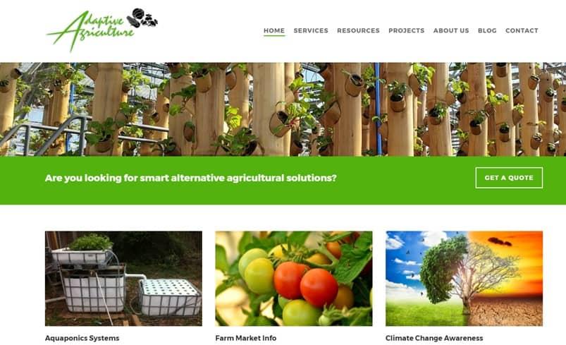 Adaptive Agriculture Website Design Project
