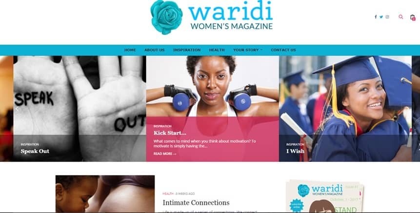 Waridi Womens Magazine Web Design Project