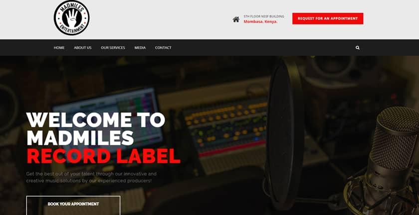 Web Design Project - Madmiles Entertainment