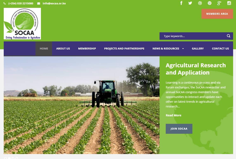Web Design Project - Society of Crop Agribusiness Advisors of Kenya