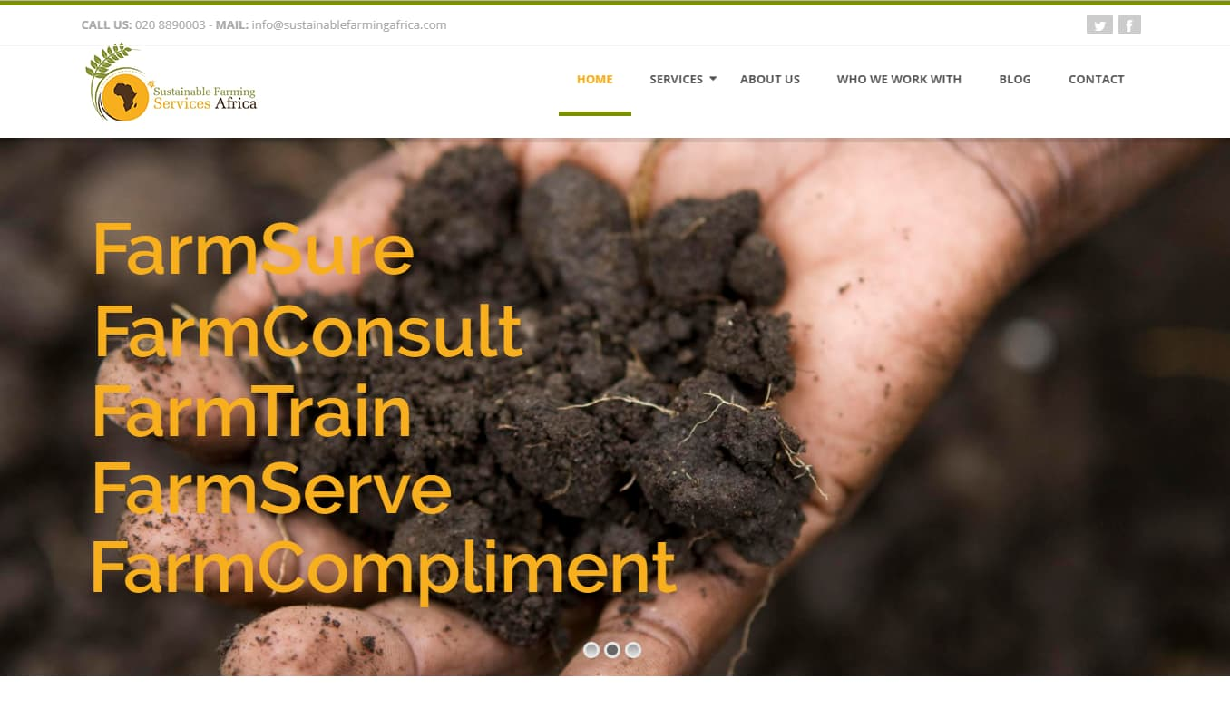 Web Design Project - Sustainable Farming Services Africa