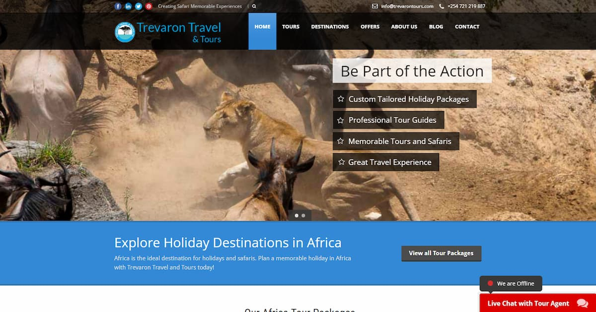 Web Design Project - Trevaron Tours and Travel