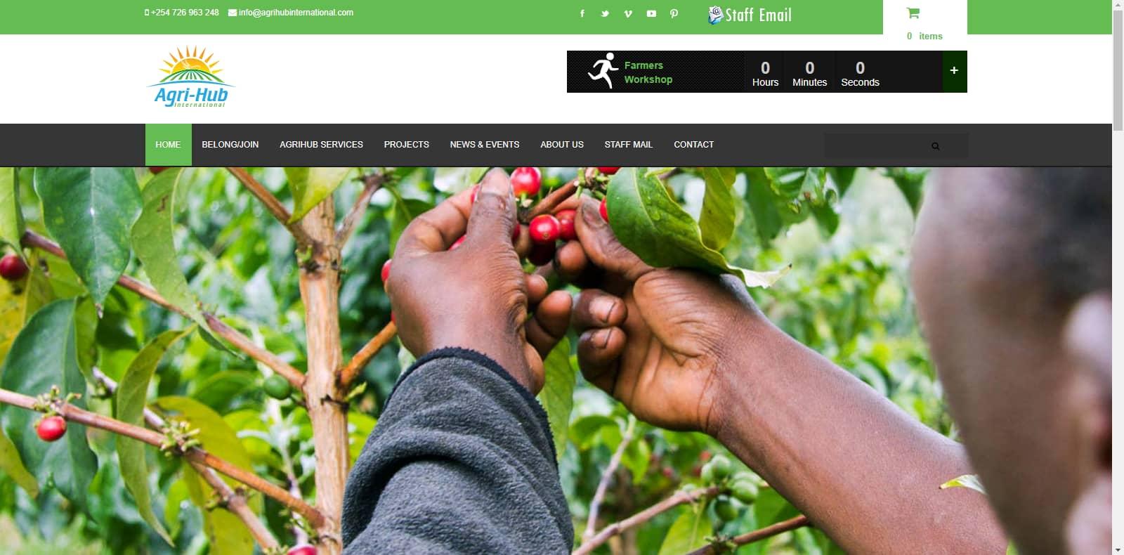 Website Design Project - Agri-Hub International