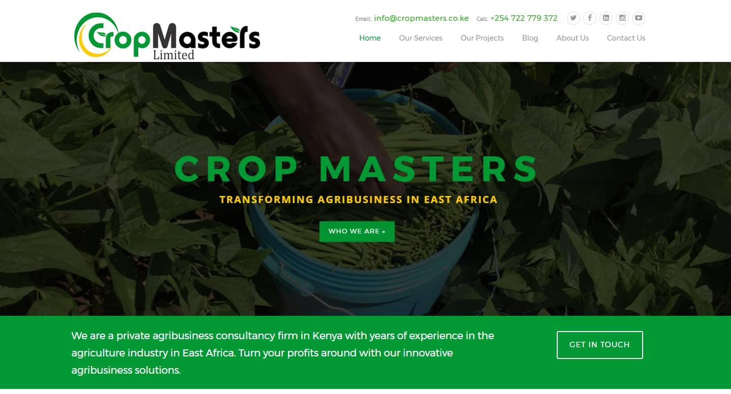 Website Design Project - Crop Masters