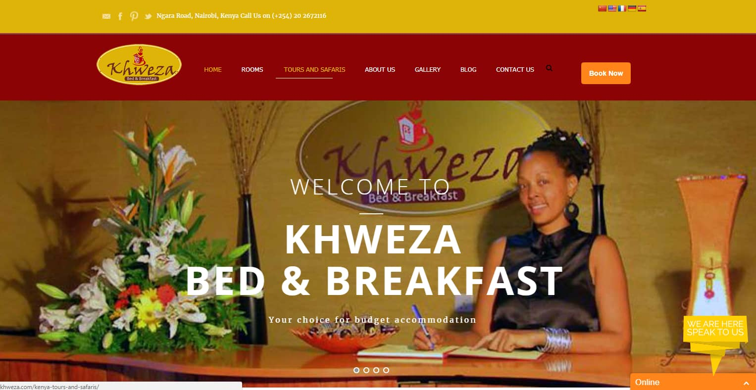Website Design Project - Khweza Bed and Breakfast