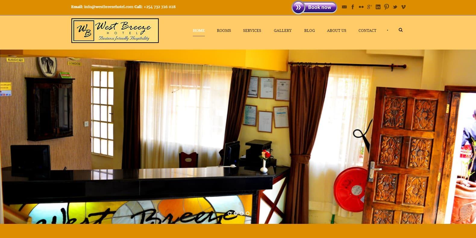 Website Design Project - Westbreeze Hotel