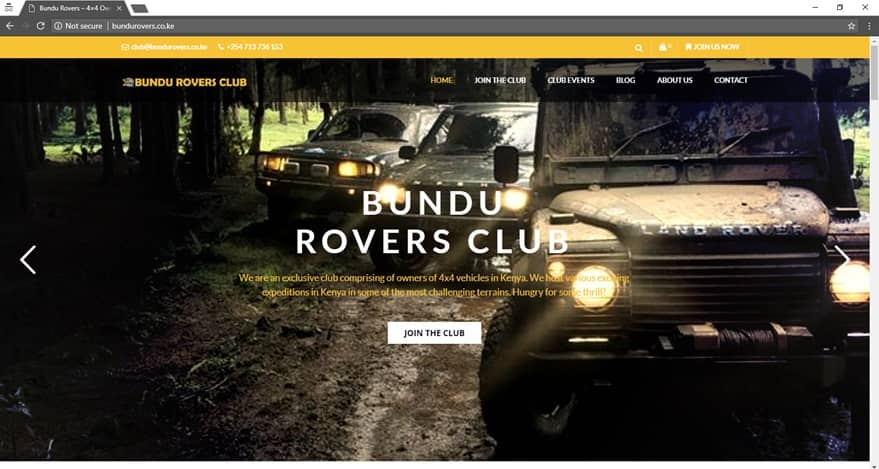 Bundu Rovers Club Kenya-Website