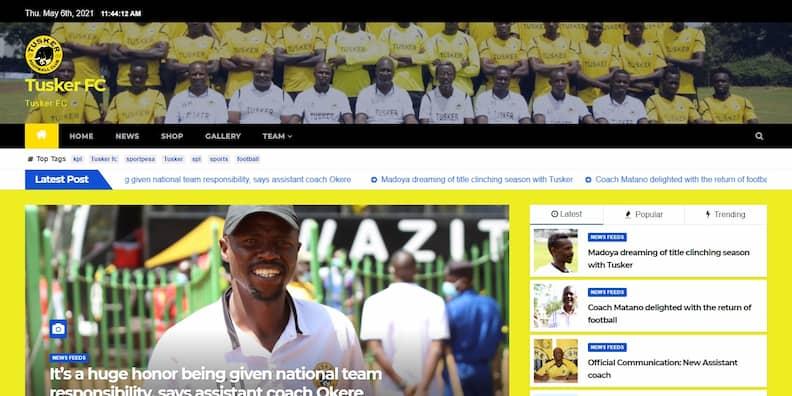 Web Design for Tusker FC