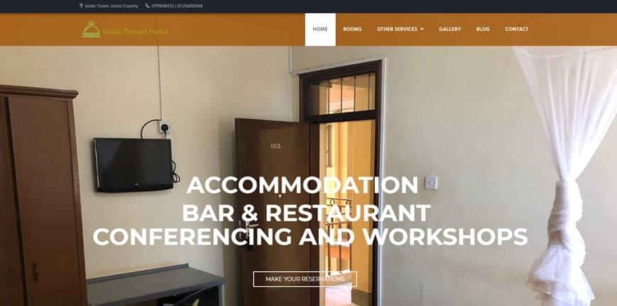 Isiolo Transit Hotels Website Design