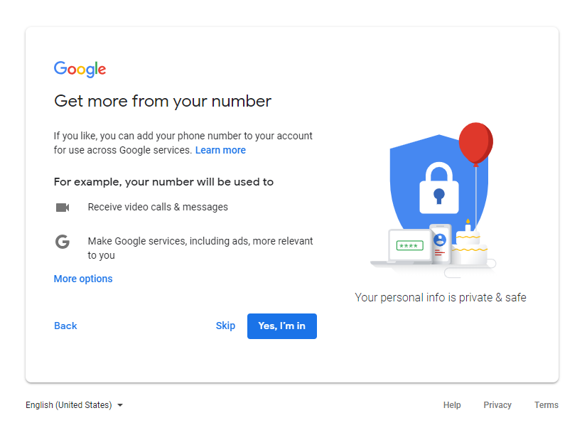 Google Account - Get more from your phone number