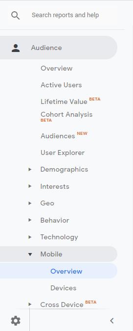 Google Analytics - Mobile Experience