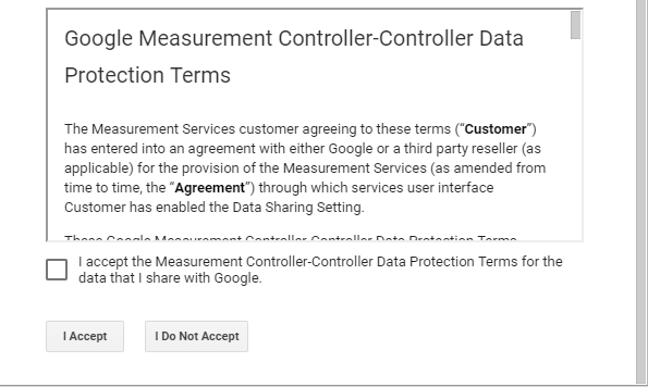 Google Analytics Terms of Service Agreement 2