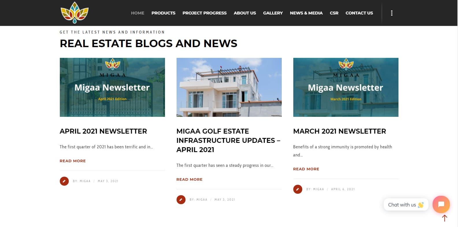 Content Marketing Campaign - Migaa Golf Estate