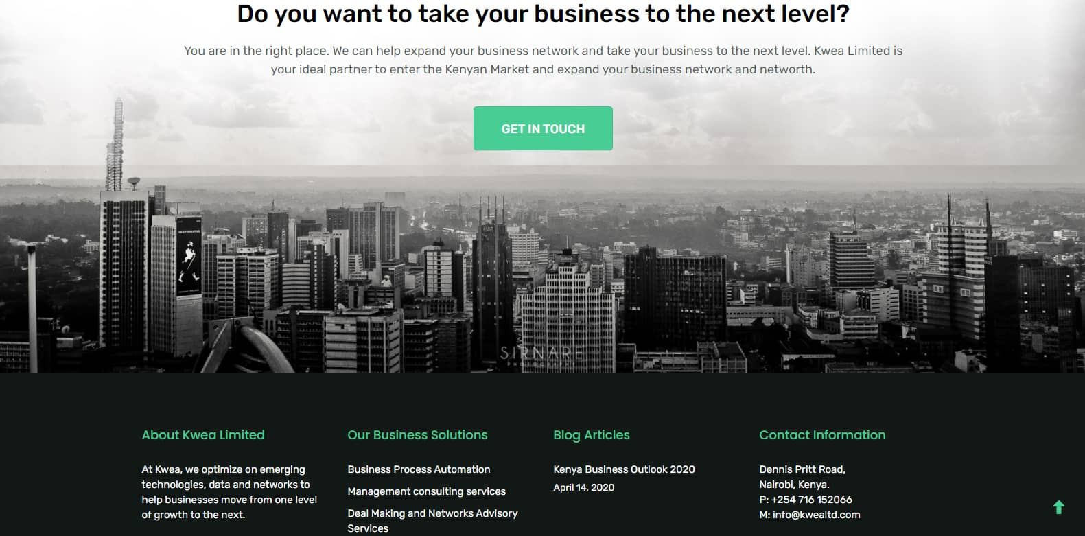 Web Design Services - Kwea Ltd Project