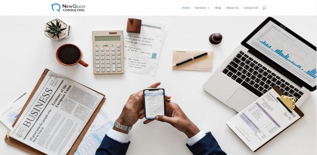 Web Design for NewQuest Consulting Kenya