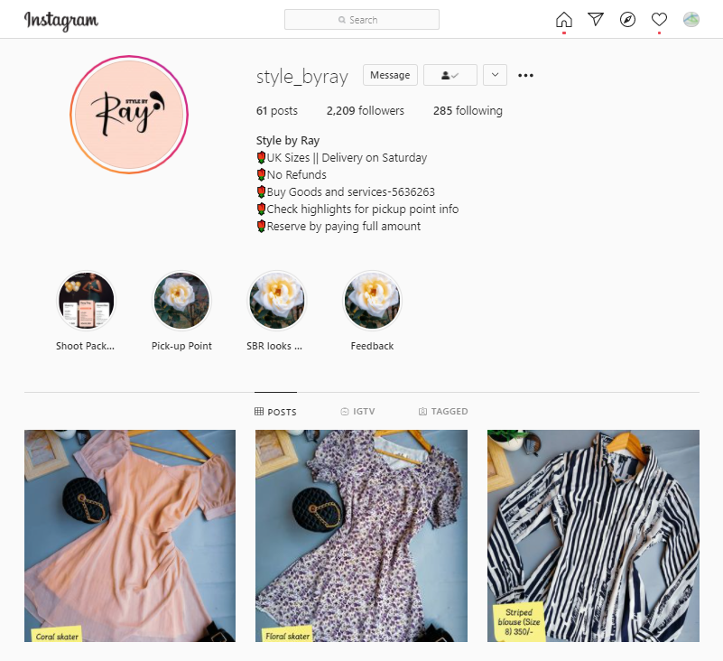 Sell Products on Instagram Kenya