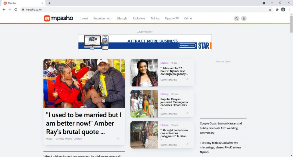 Entertainment Websites - Mpasho