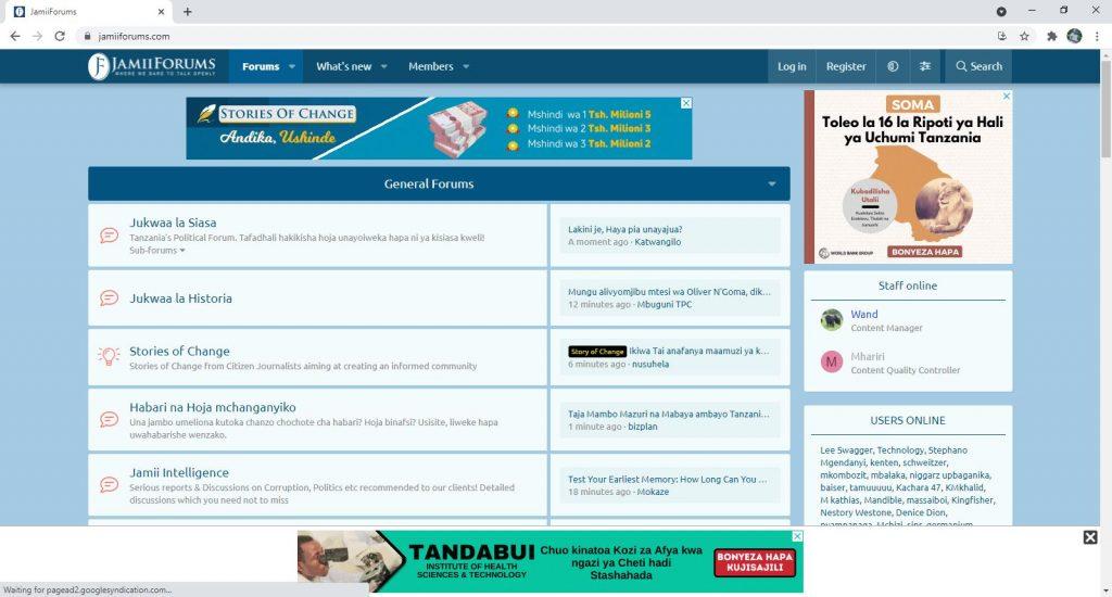 Forums and Communities Websites - Jamii Forums