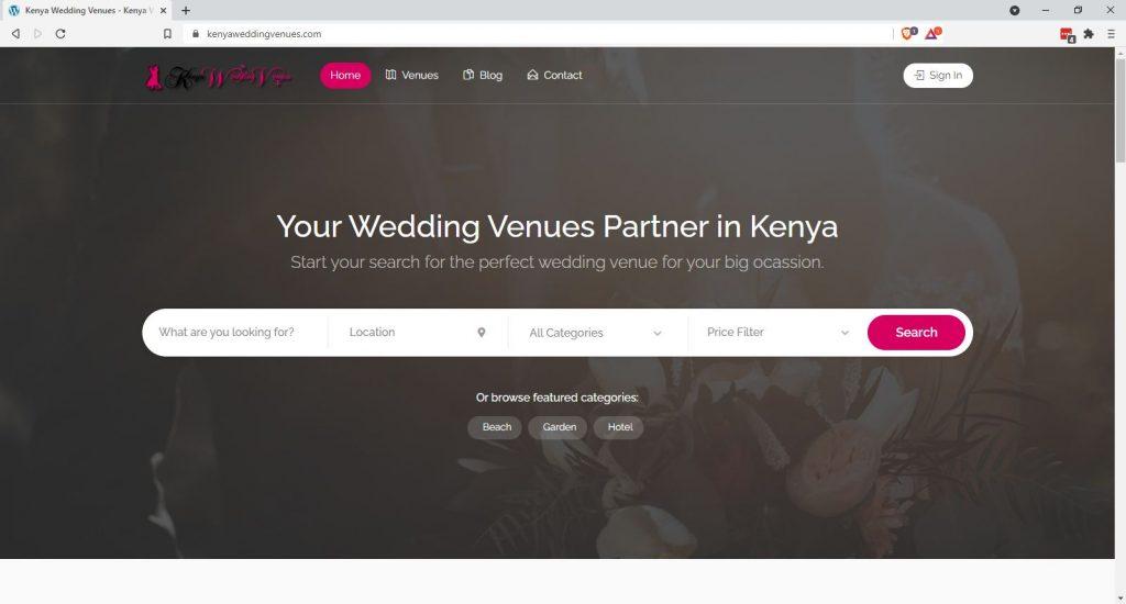 Listing Business Directory Websites - Kenya Wedding Venues