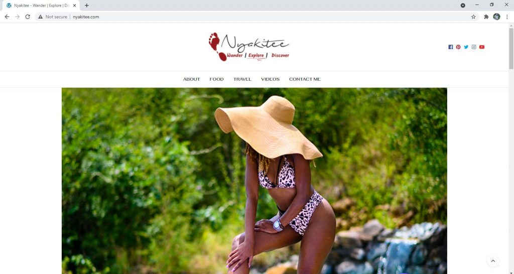 Personal Blog Website - Nyakitee